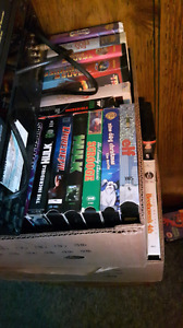Vcr tapes and shelfs
