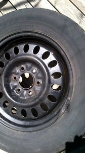 6x127 (6x5) steel rims with free tires..fits trailblazer envoy