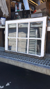 Used wooden windows.
