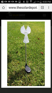 2 Solar Angels garden lighting