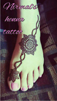 Henna tattoo mehndi temporary tattoos
