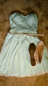 EUC Dress and Brand New Shoes For Sale