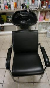 Beauty Salon Barber Chair Sink Bowl Shampoo Backwash Equipment
