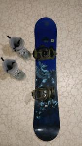Forum 155 Snowboard with boots