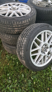 Rims with like new Summer tires