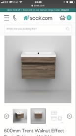Wall hung bathroom cabinet unit (no basin)