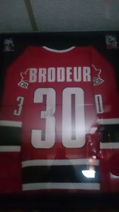 Autographed Martin Brodeur team Canada jersey