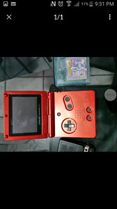 Pokemon leaf green, fire red, crystal and game boy sp