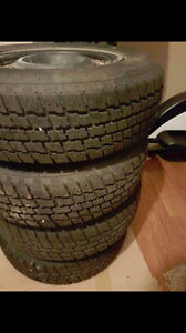 cooper weather/master S/T2 185/75R14 89S tires on rims 5x100
