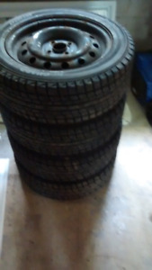 195/55/R15 Yokohama Winter Tires And Rims Ice Guards