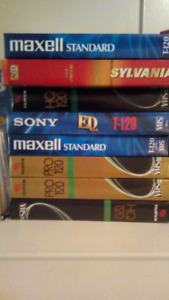 8 unopened vcr vhs tapes