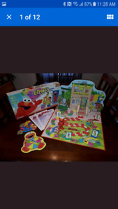 Elmos Birthday Board Game Sesame Street USED but complete