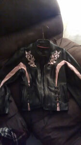 Leather biker jaket