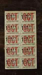 10 x 1943 OCTOBER 1 UNIT BEER STAMPS