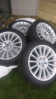 """BMW OEM rims and Winter tires 18"""" from 5 series"""