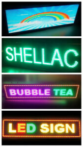 LED Signs, displays,  Window Signs & Snap Open Menu Board