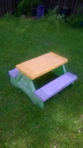 BACKYARD TOYS LITTLE TIKES, slide,wagon,picnic table,ride on toy