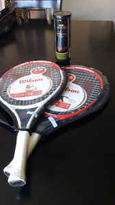 Brand new racket and balls