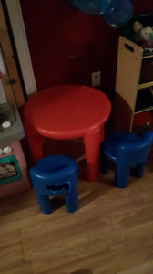 Little tikes table with 1 chair