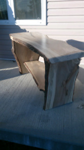 Hard wood maple table handcrafted from fallen tree