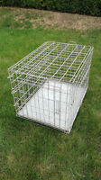 """folding 31x22x23"""" pet crate / cage / pen with metal undertray"""