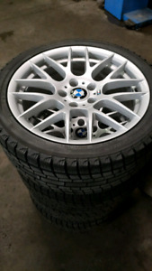 18x8 bmw winter rims with tires 245/40/18