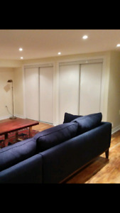 One Set of white sliding closet doors