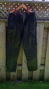 Black Leather Motorcycle Pants Size XL