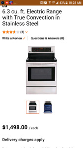 WICKED DEAL *  Brand New Electric LG Range - Private sale