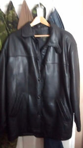 New woman black leather jacket