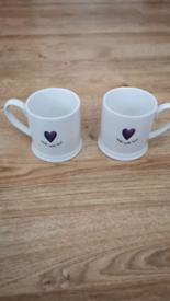 2x Tea Cups Made With Love