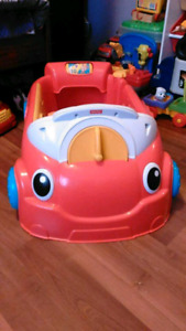 Fisher Price toddler car and toddler table and toddler tool bag