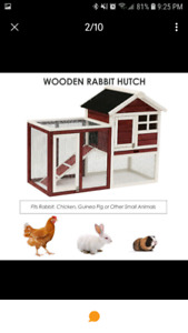 Rabbit hutch with tons of extras