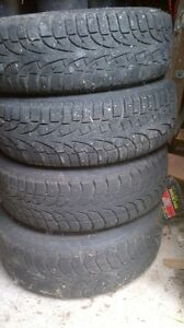 """Used 15"""". Steel rims with winter tires"""