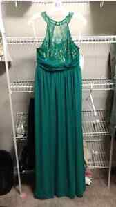 Emerald full length evening gown BRAND NEW