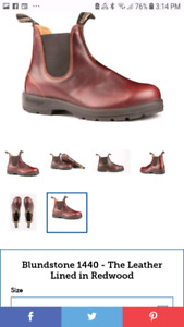 Looking for size 5 redwood blundstones round toe