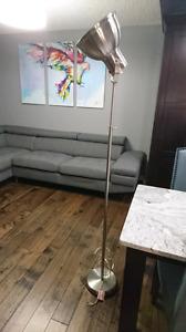 Mid Century Modern Stainless Steel Floor Lamp