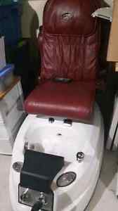 Salon foot spa and chair massager