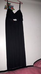 black spaghetti strap dress size 22