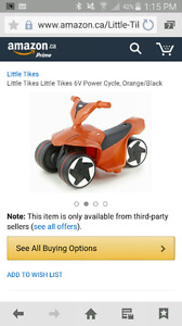 Little Tikes 6v power cycle