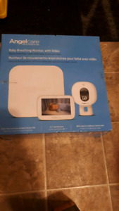 Angel care baby monitor with breathing pad