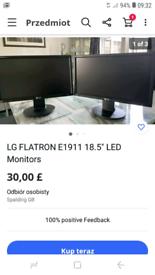 "LG FLATRON E1911 18.5"" LED Monitors."