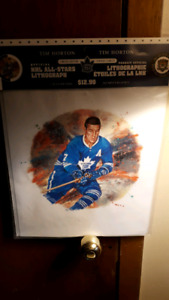 Official nhl stars lithograph of Tim horton