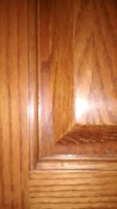 Solid oak  cabinet doors 25$/door