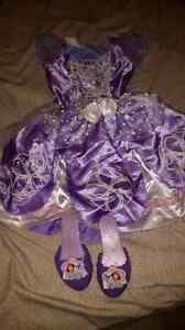 Sofia size 2-4, 2 piece dress and shoes