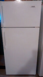 Apartment size fridge and electric stove