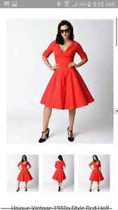 Retro 1950s Style Party Dress