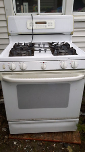Propane stove with electric oven