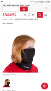 RUNNING ROOM NECK AND FACE WARMER -  UNISEX