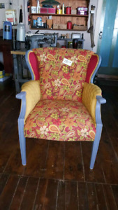 Newly  Upholstered  Chair